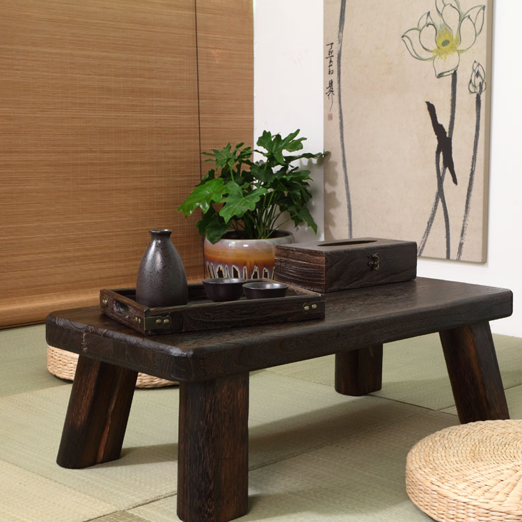 Japanese tatami wood coffee table table bed computer desk window balcony Aiji few Kang Kang Table table
