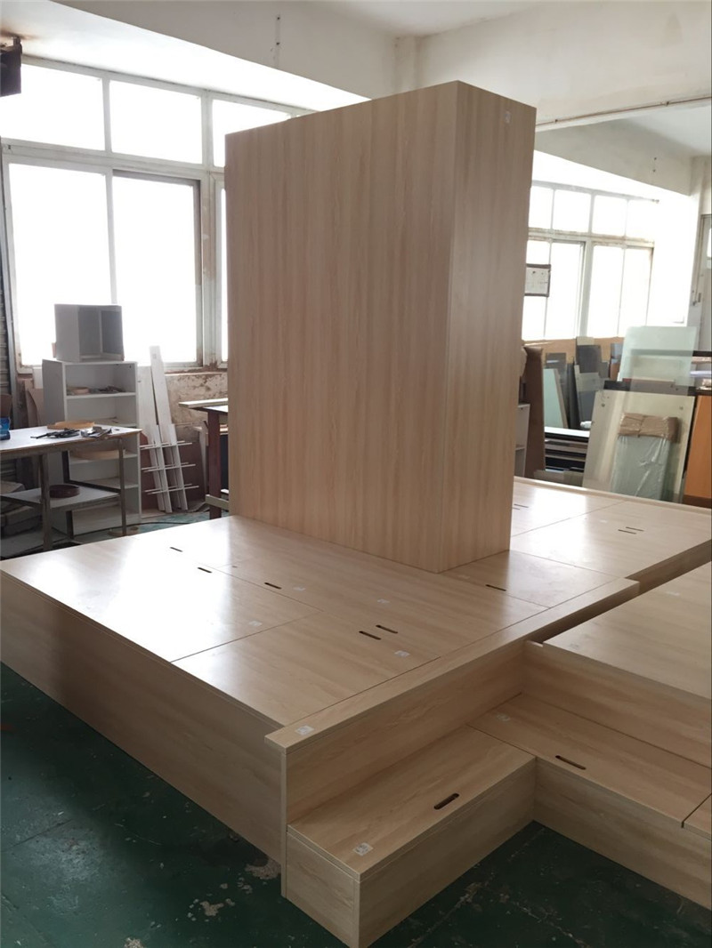 Hongkong Shenzhen custom wood plywood floor bedroom tatami bed cabinet cabinet whole wardrobe cabinets custom-made furniture