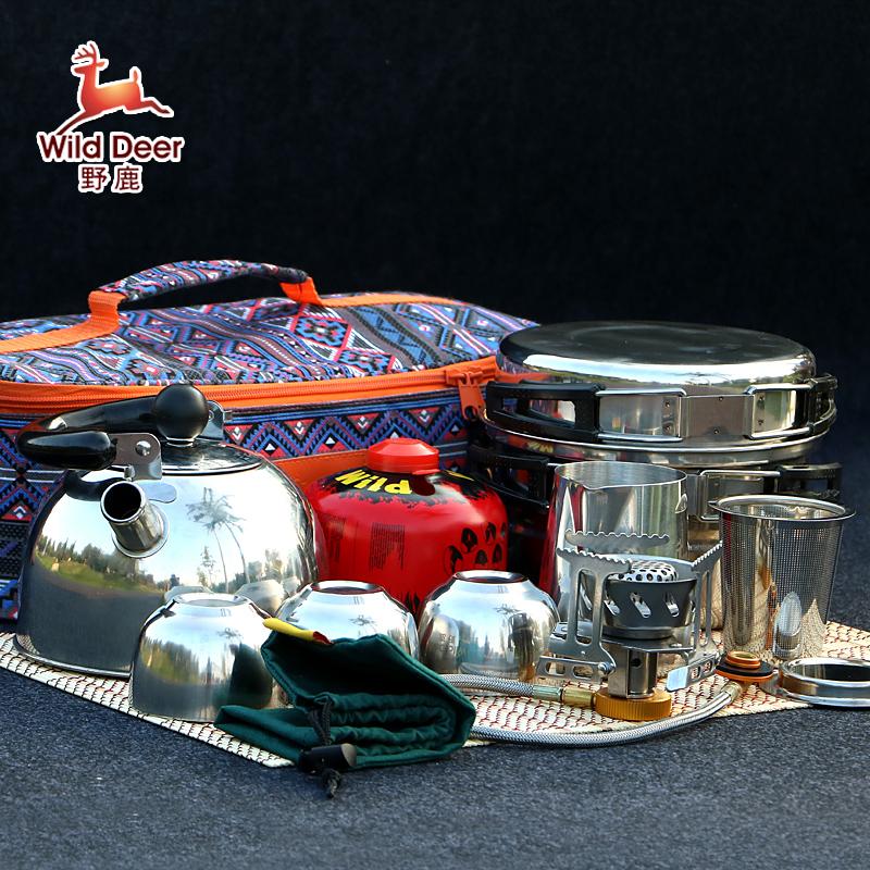 портативный мини - печи Аутентичные оленя полевых чай с прием пакета кемпинг плиту открытый печь печь голову костюм лесополоса