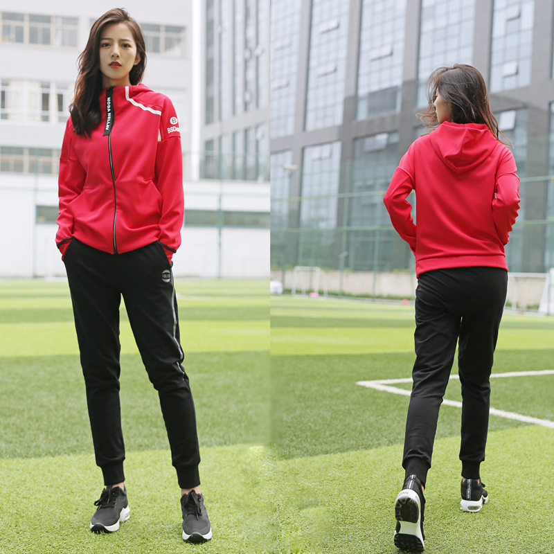 Korean Yoga wear 2017 new fitness clothes, women's autumn and winter loose quick dry, outdoor morning running, sports suit women