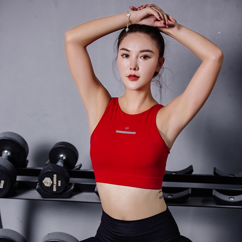 Philippines speed high strength small chest bra vest type shockproof Yoga running back bra autumn female underwear
