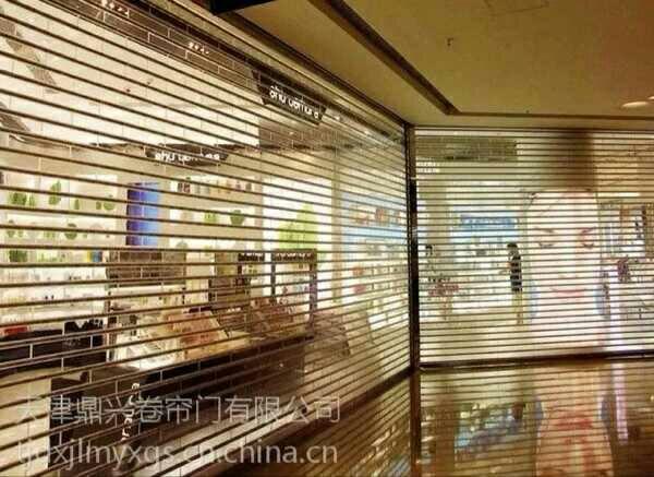 เทียนจินเป็นเมืองประตูม้วน 77 95 ประเภทฉนวนกันความร้อนชนิดแผ่นม่านอลูมิเนียมกลวง , ประตูม้วนไฟฟ้า , ประตูม้วน .