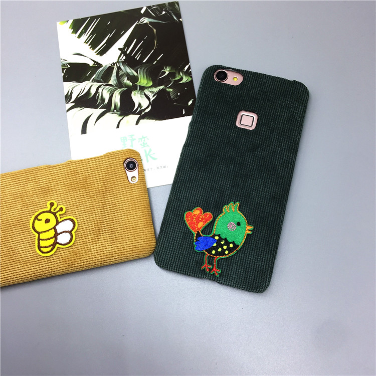 Jin S10/F105F301 embroidery F303S5.1/PRO/S5.5 protective sleeve M5 corduroy mobile phone shell