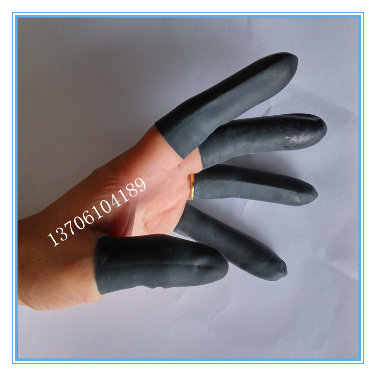 Thickening finger industry, agricultural banknote teacher, latex rubber, plastic skin, wear black and white finger sleeve 5 pieces of mail