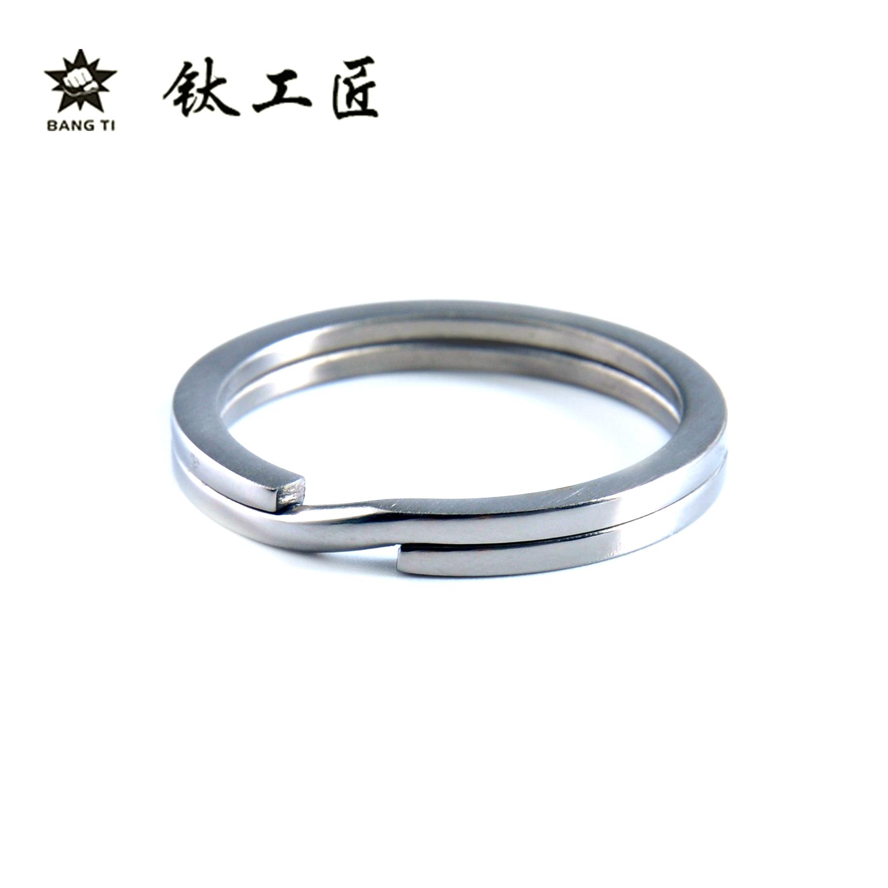 พวงกุญแจไทเทเนียมบางไทไทเทเนียมแหวนไทเทเนียมแหวนพวงกุญแจไฟ EDC ไม่เกิดสนิม