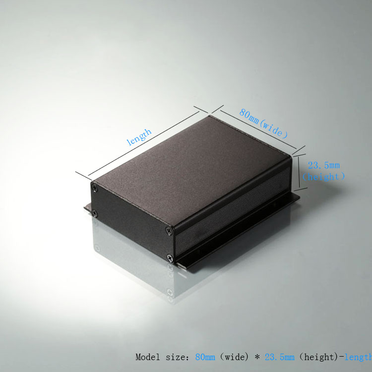 80 * 23.8-90 de sous - produits d'alimentation externe d'un boîtier de branchement d'aluminium Carter en aluminium en alliage d'aluminium pour boîtier de boîte en aluminium