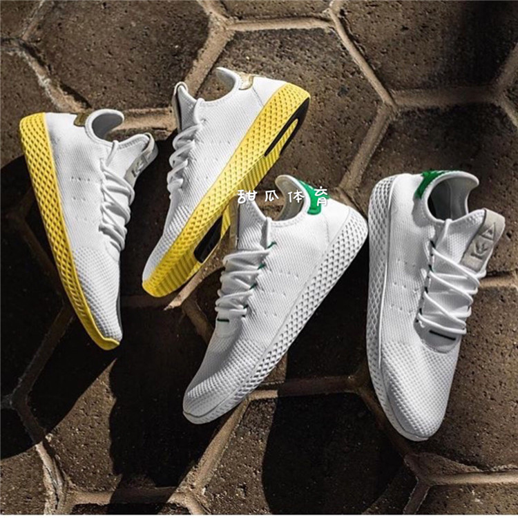 AdidasPharrellTennisHU Philippines Dong green tail white yellow Smith BA7828BY2674
