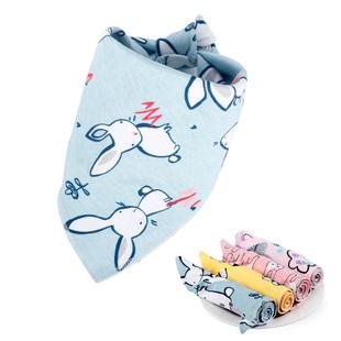 8条装宝宝口水巾加大加厚三角巾纯棉婴儿围嘴双层按扣新生围兜