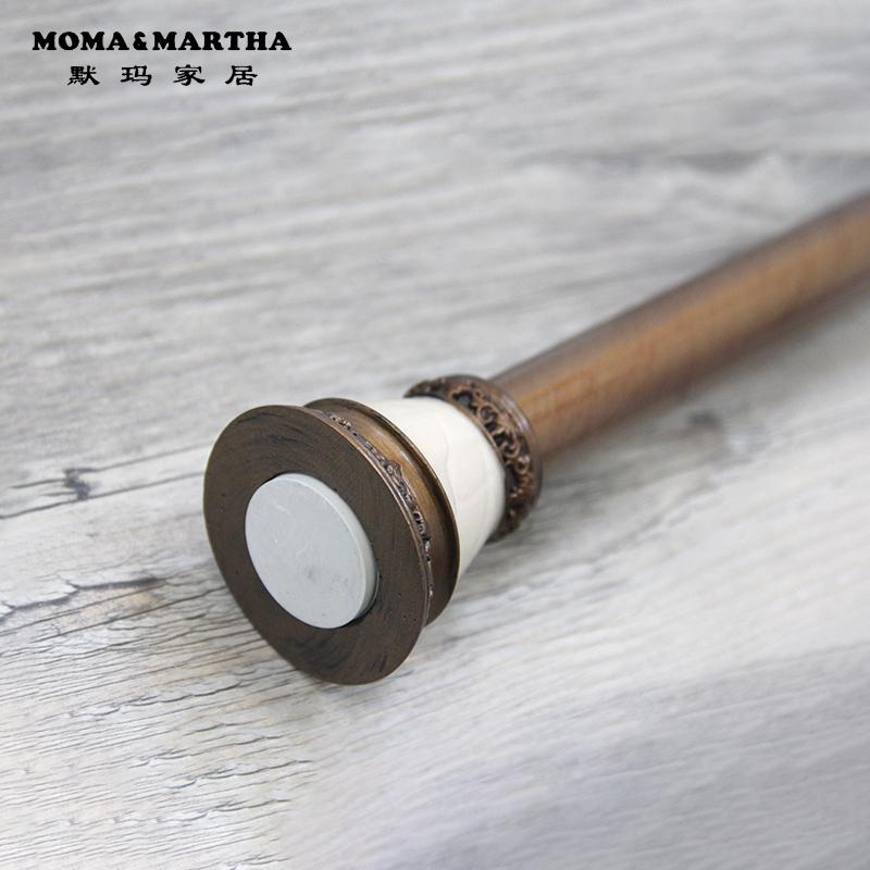 El americano continental antiguo de perforación libre telescópico de cortina de baño retro Bar bar de la barra de la cortina de cono