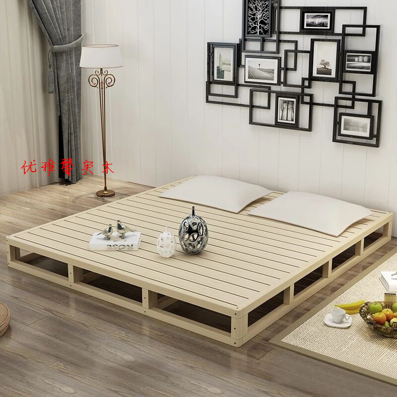 Custom wood wood pad tatami hard waist 1.5 double bed shelf 1.8 meters hard Simmons