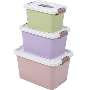 手提式收纳箱衣服玩具整理箱零食储物塑料有盖桌面化妆品收纳盒子