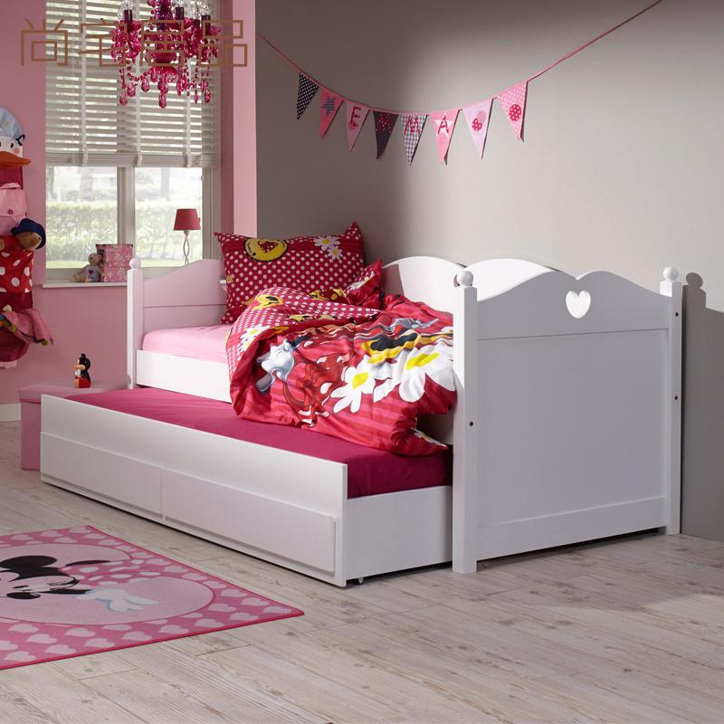 シンプルな白無垢材ソファベッドリビング寝室怠け者ソファーベッド収納引出し多機能を持って拖床カスタム
