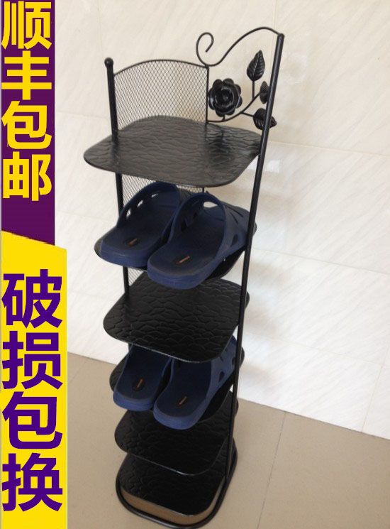 Shipping welding art black multi Continental Iron included six layers of small creative simple shoe shoe special offer