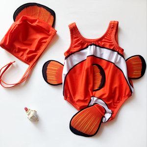 婴儿连体泳衣男女宝宝泳衣0-1-2-3岁小童防晒泳装游泳馆儿童泳衣
