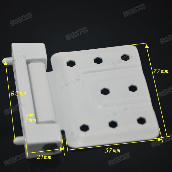 Plastic steel door hinge hinge, plastic steel flat open door and window hinge, toilet door, balcony door window plastic steel hinge