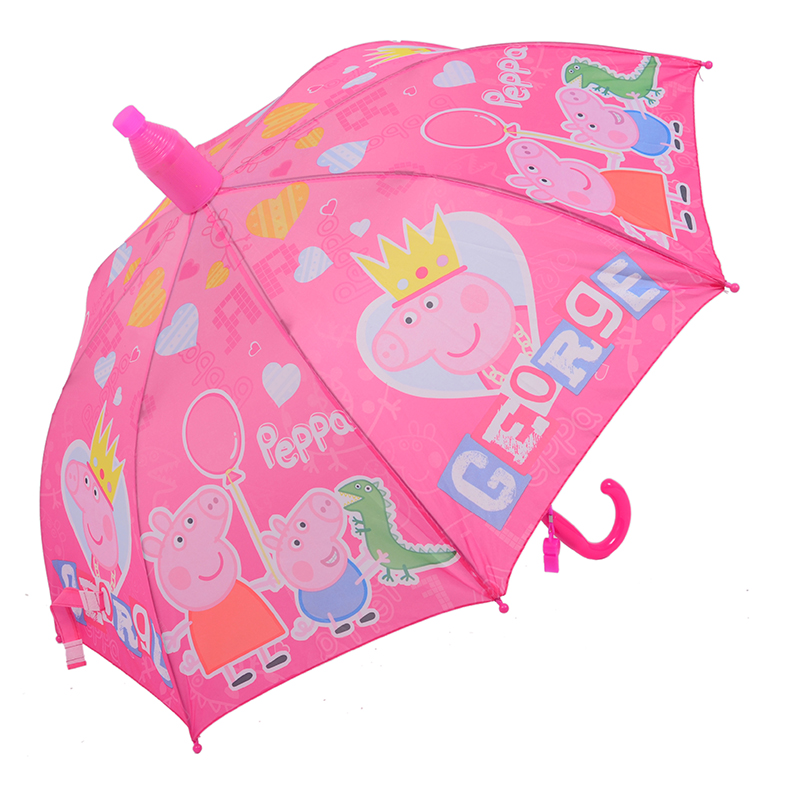 粉红小猪儿童雨伞 男女童POE塑料透明伞3-7岁小猪佩奇宝宝晴雨伞