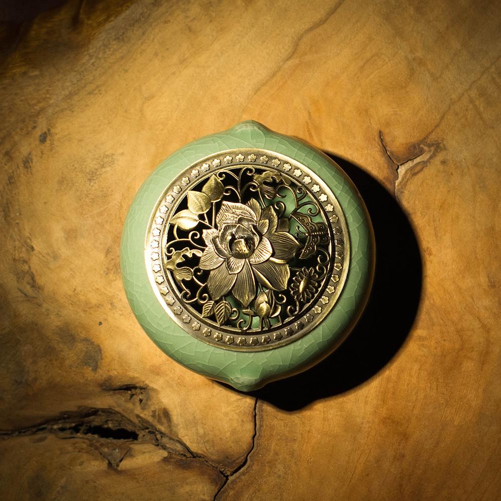 новый кадильницу керамическая горелка курили фимиам сандал сандаловое печи украшения включить Будды буддизм товаров