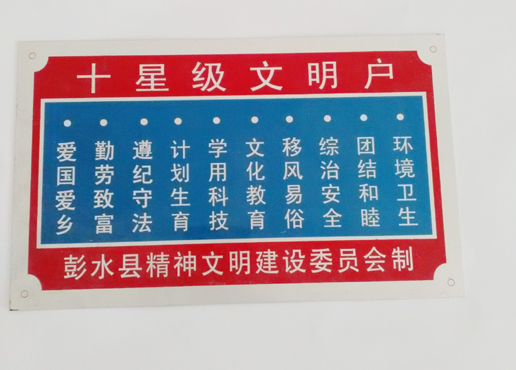 Custom signs licensing custom nameplate customized production aluminum corrosion drawing high light reflective screen