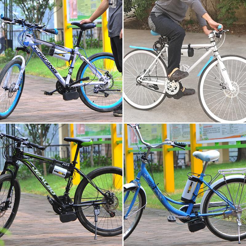 att köra bil ändring mountainbike utrustade för församlingen hjälpa enskilda delar av motorvägen noll eldrivna cykel