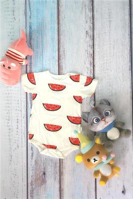 新生婴儿连体衣服夏季包屁睡衣男女宝宝纯棉背心短袖三角哈衣