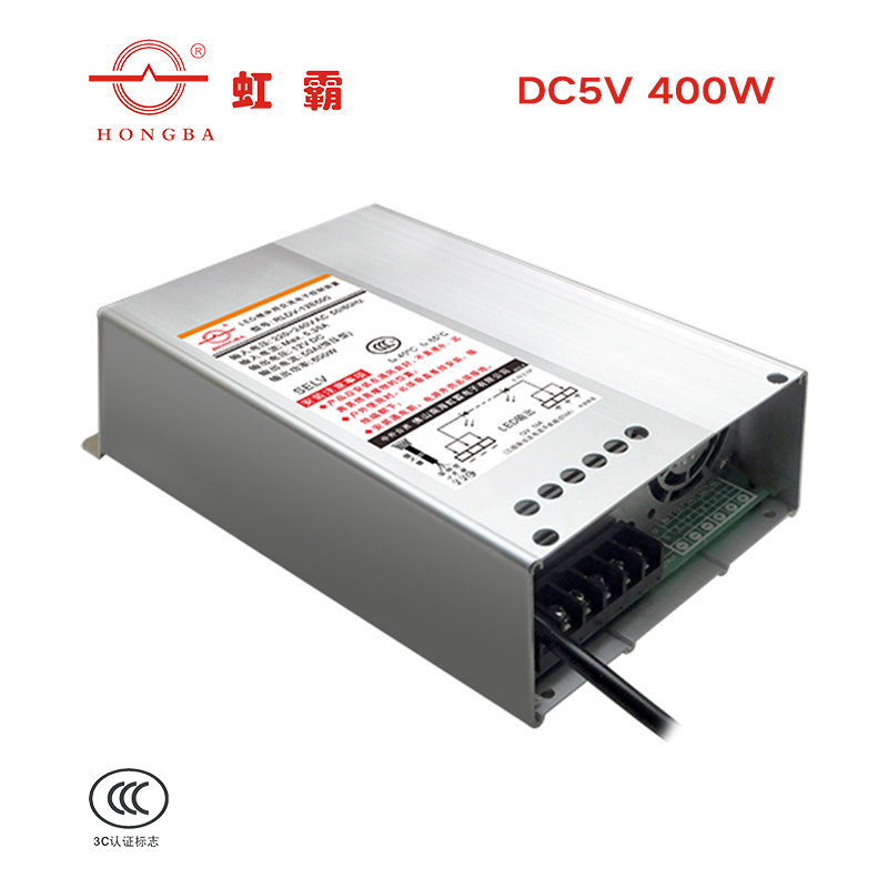 Get 3C certification of rainbow tyrant brand 5V400W engineering level rain proof LED switch power transformer manufacturer genuine