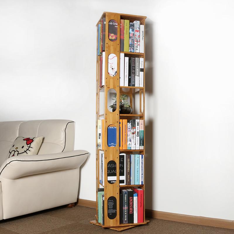 La Sala de estudio de los estudiantes de la estantería rack vertical con marco doméstico moderno minimalista de ordenar los estantes de aterrizaje de rotación