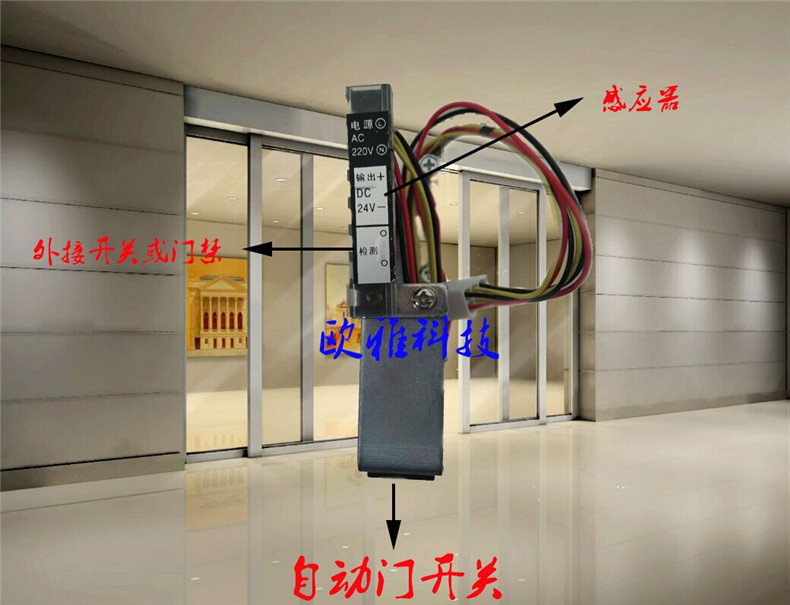 Maitreya automatic door motor generator set automatic induction door door five years warranty automatic sliding door unit