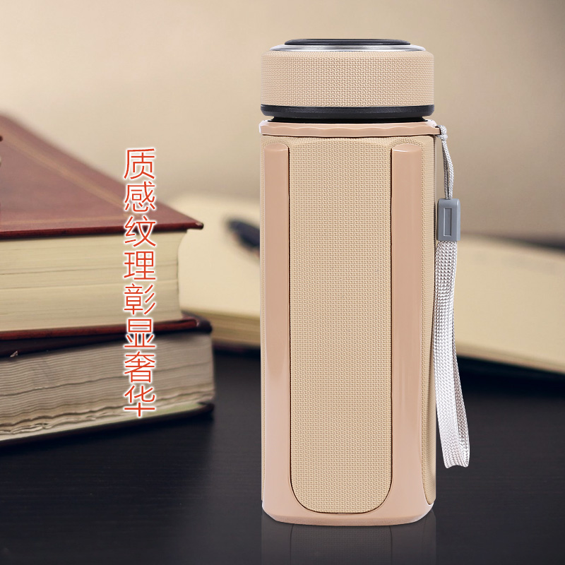 The vacuum insulation Cup Cup Men's purple liner stainless steel leak proof portable office custom lettering cup
