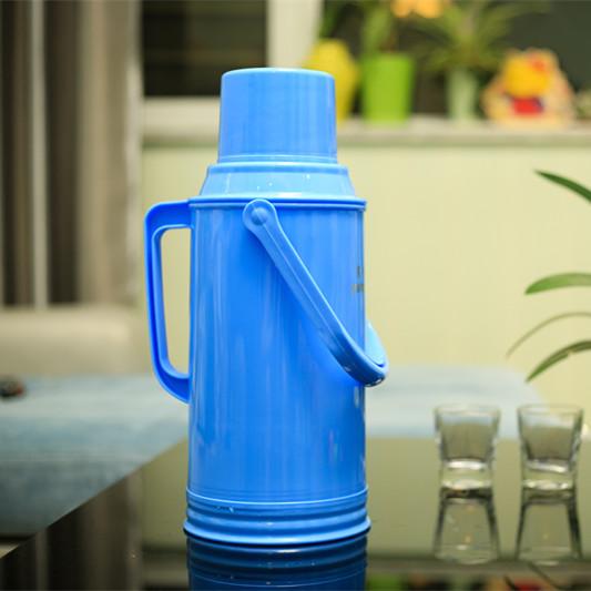 3.2L teplé vody pro domácnost na vnější tepelné izolace lahvičku s větší kapacitou 8 liber 暖壶 vody termoska skla z kůže žlučník.