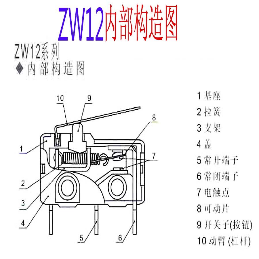 بيع المصنع مباشرة حقيقية السفر التبديل التبديل الجزئي الحد التبديل ZW12-C النحاس الاتصال