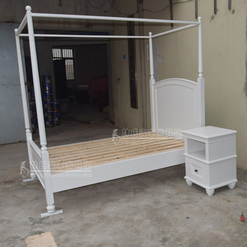 Boutique PB American children of rural solid wood bed single bed double bed princess bed set custom furniture