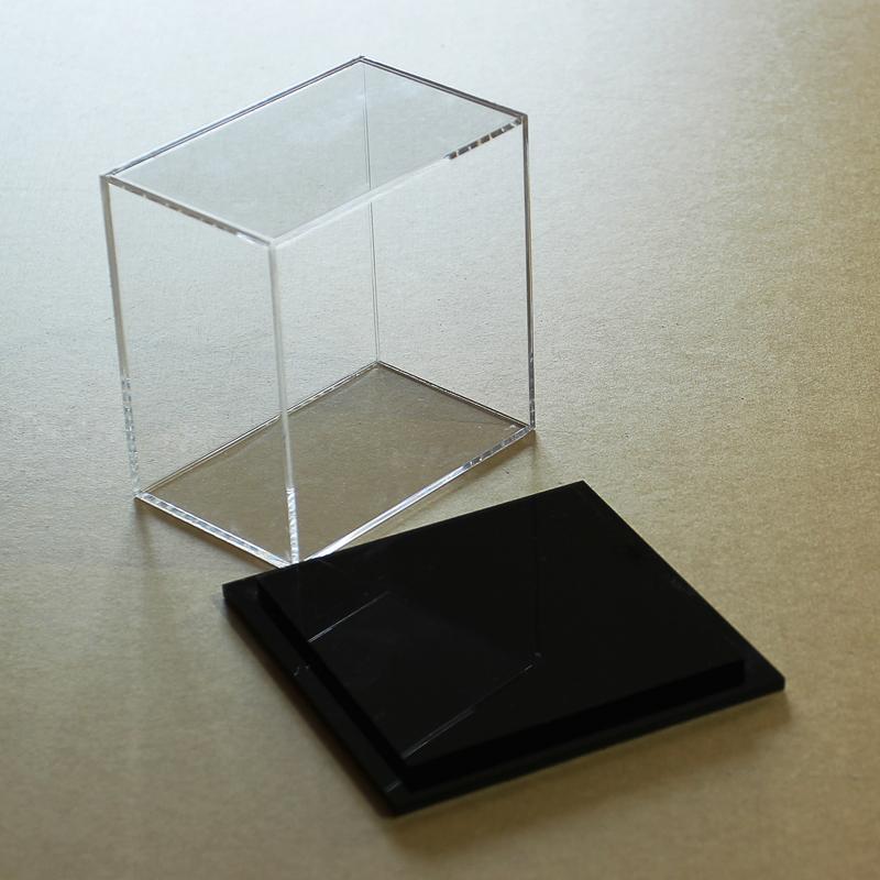 Mostra la personalizzazione di acrilico modificato il taglio di bilancio la scatola di Plastica trasparente di Lavorazione DEL VETRO piatto di Pesce organico