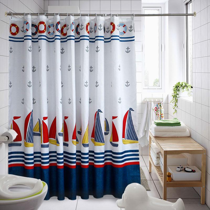 Non punching toilet bathroom curtain fabric, shading, thickening, waterproof, mildew proof, bathroom shower, polyester partition curtain, curtain curtain