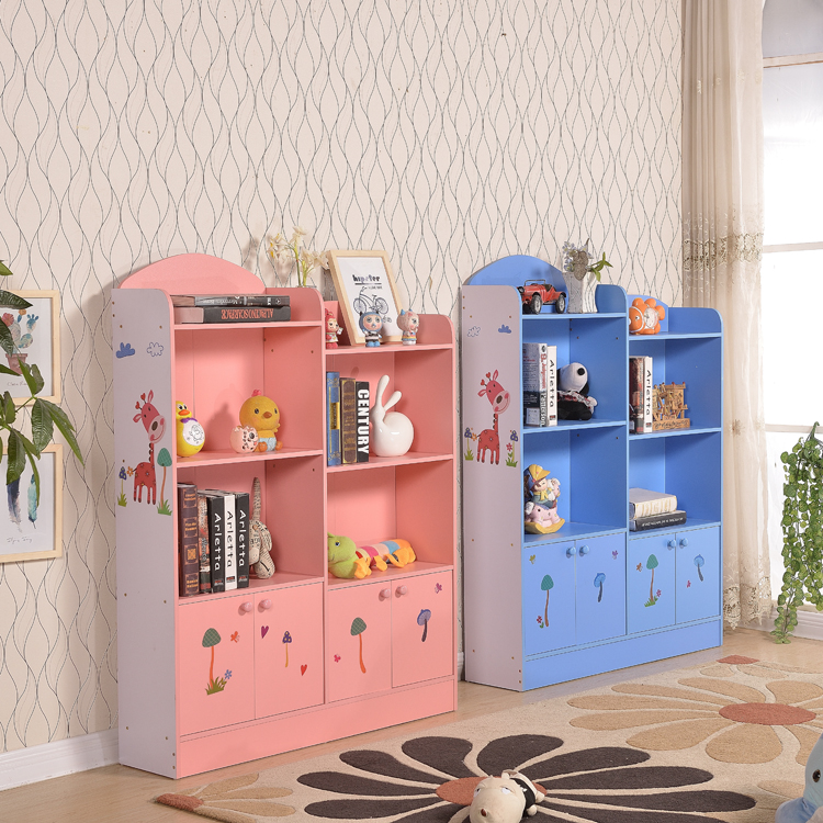 Simple cartoon Mini multi-functional wall children Princess wind children small small bookshelf children's bookcase