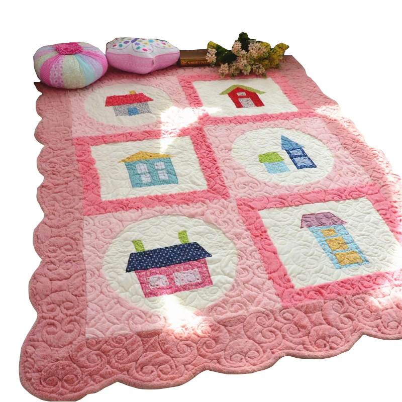 South Korea s short plush antiskid mat carpet embroidered patch quilted fabric mat crawling pad tatami mats