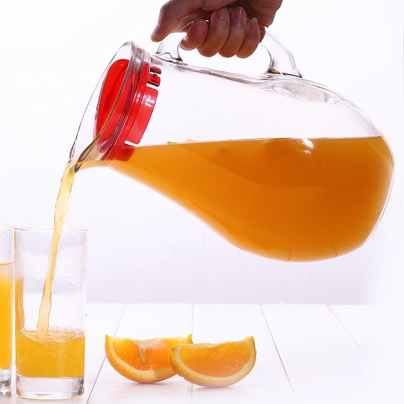 帕莎大容量2L壶扎壶冷水壶凉水壶耐热玻璃壶冷热双用加厚玻璃茶壶