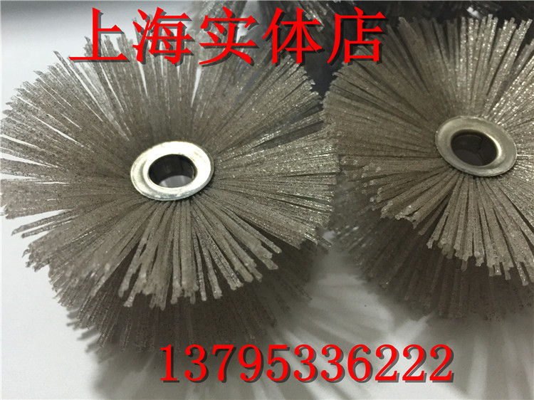 Imported DuPont silk flower polishing brush head grinding head grinding head of monolithic parallel mahogany