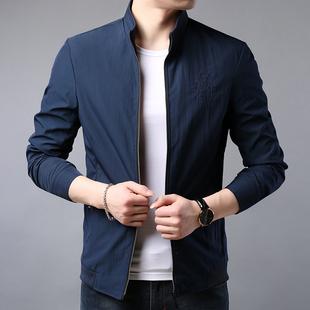 新款2019秋季韩版中青年年男式夹克衫商务休闲修身男外套秋上衣潮