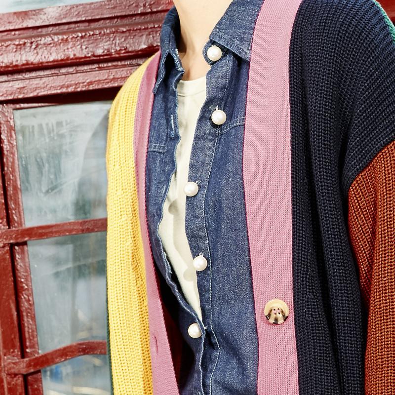森宿旗舰店2017春夏装女文艺套头宽松打底毛衣上针织衫中长款开衫