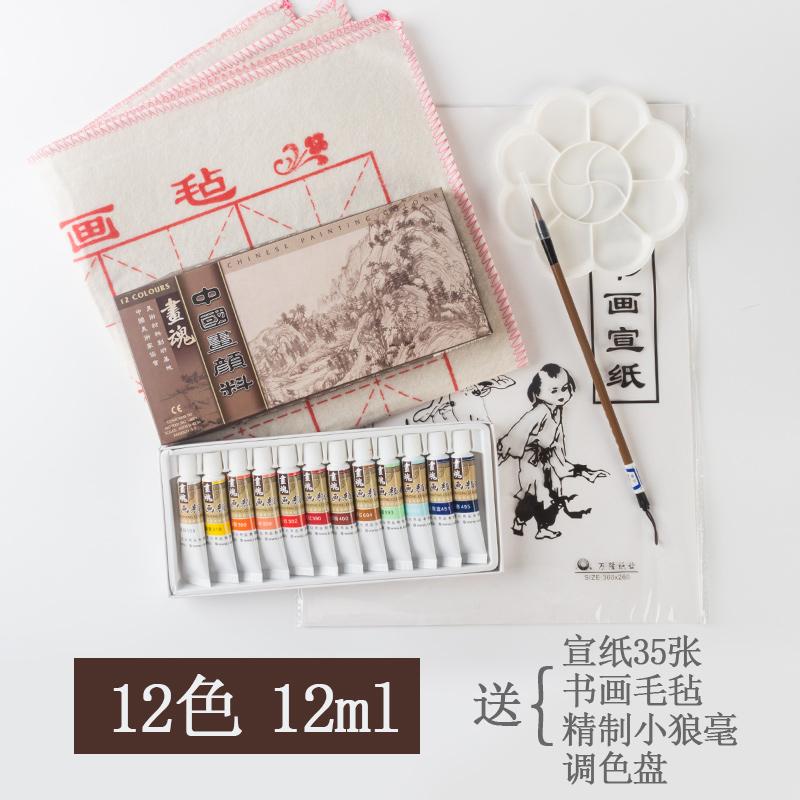 IL dipinto cinese vestito dipinto UNO strumento calligrafia inchiostro per principianti di Colore - Colore coloranti 24 12