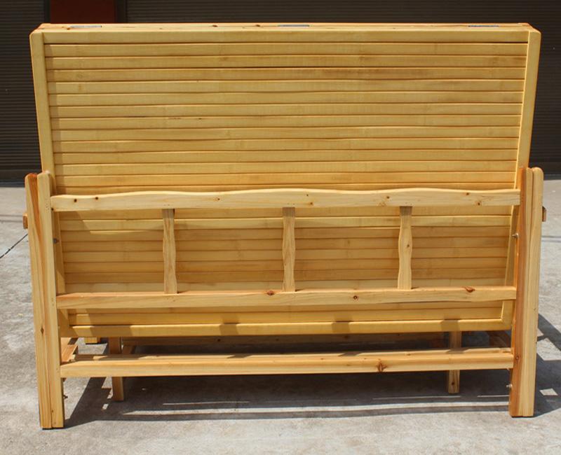 μπαμπού καναπέ - κρεβάτι πτυσσόμενου διπλό ξύλινα απλό διπλής χρήσης πολυλειτουργικό απλό fir κρεβάτι ενηλίκων στο σαλόνι