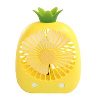杂啊 凤梨水果小型电风扇迷你可充电宿舍手拿随身寝室学生usb电扇