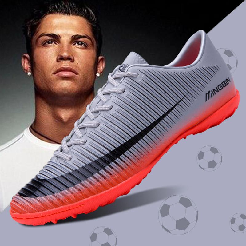 足球鞋碎钉tf钉c罗梅西男女ag青年成人室内训练鞋皮足男人造草地