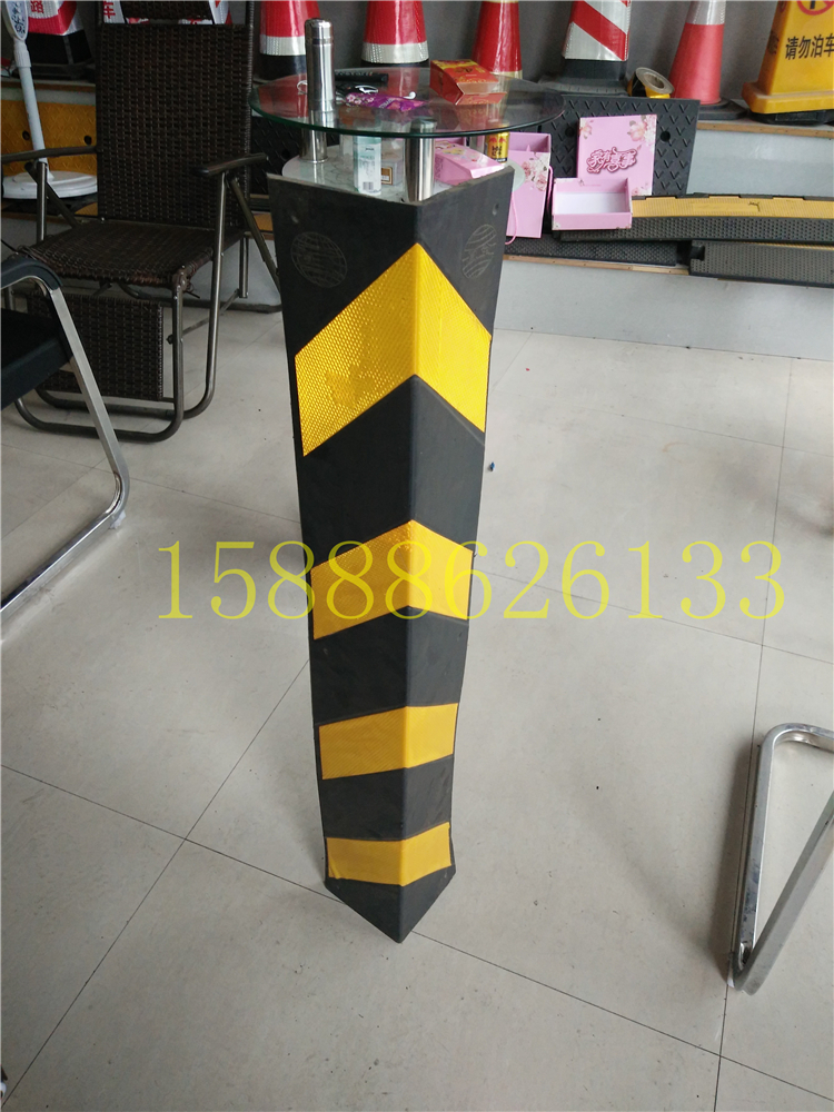 Rubber corner basement column channel level reflecting anti-collision protecting anticollision widened 15cm width of 1 meters