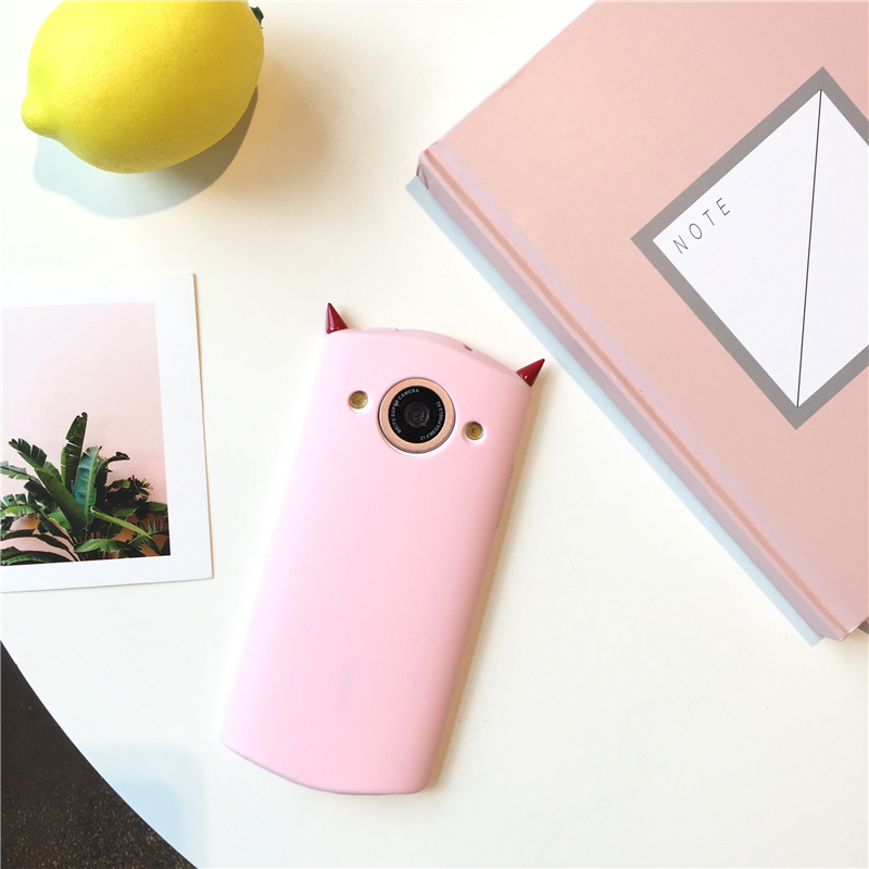 Original small devil angle silicone creative personalized figure M4V4/T8 mobile phone shell M6S/M8 full package tide Lovers M