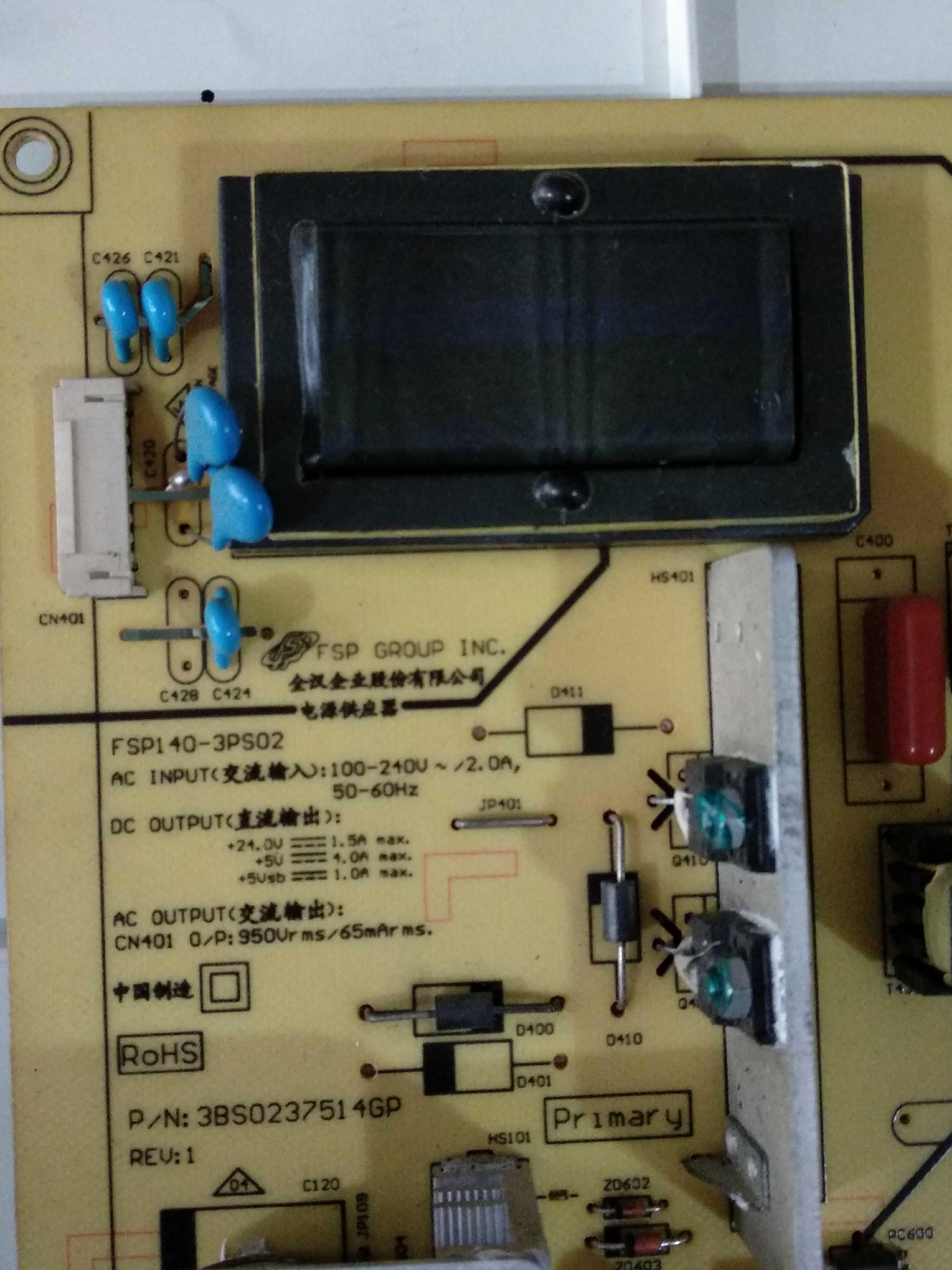 Changhong iT32650X Fsp140 3pS02 LCD - TV - Vorstand ein