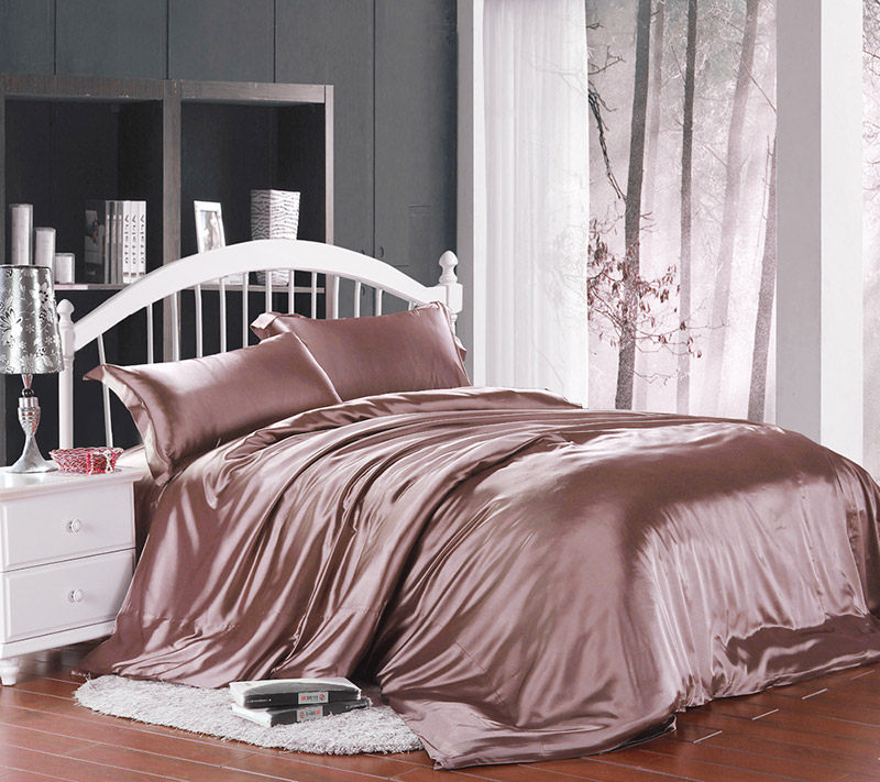 Summer bedding fitted four piece silk satin silk satin silk sheets were mailed a package of coffee