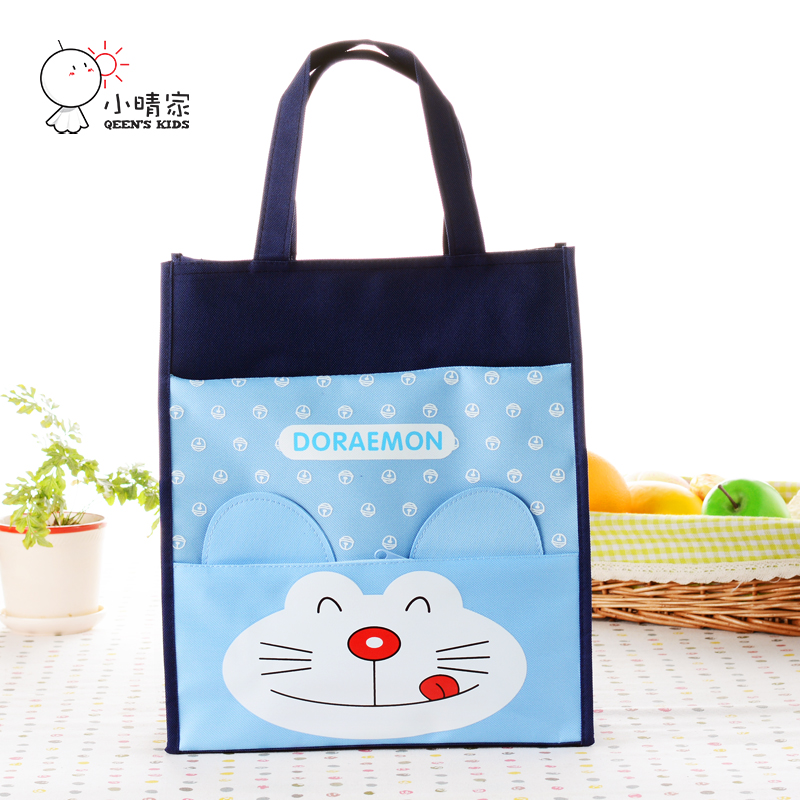 waterproof canvas primary and secondary students tutorial portable shoulder bag large bag a4 bag cartoon art book bag small bag