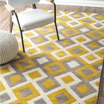 Simple moderna Sala de mesa sofá cama alfombra rectangular dormitorio lleno de estilo IKEA alfombras personalizadas