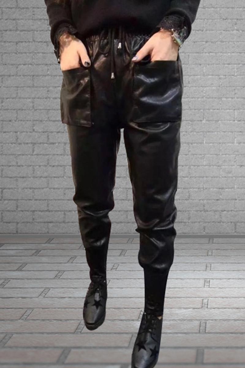 europa şi pantaloni de piele o modă 2017 pantalonii harem. ne arată şi pantaloni largi pantaloni